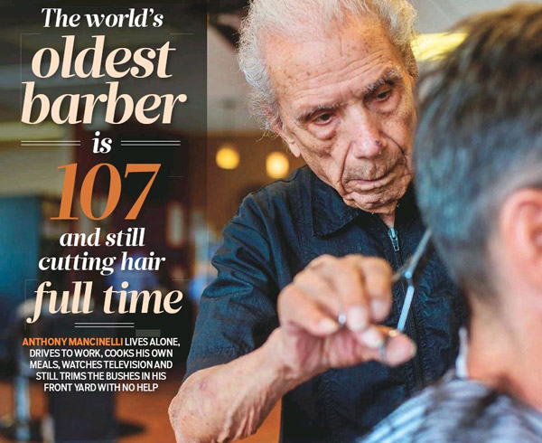Oldest barber: 107 years old